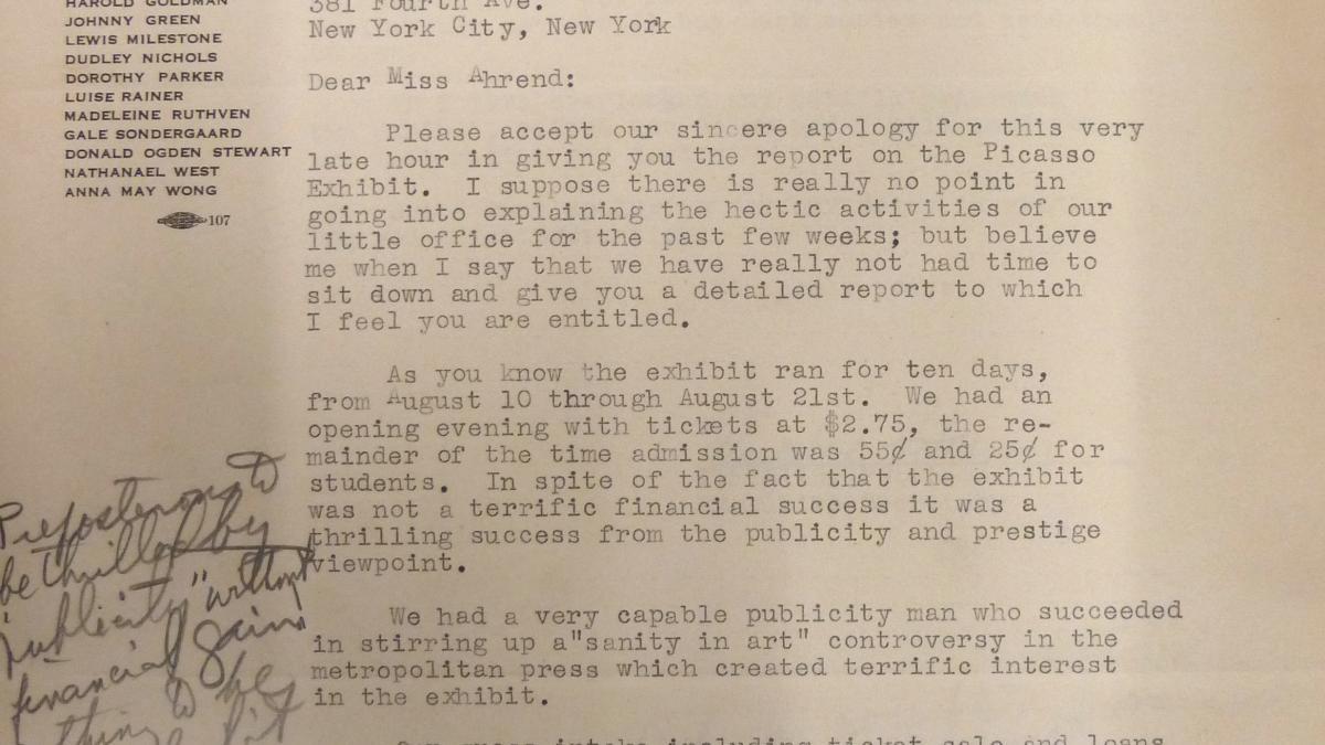 Carta de Marcelene Peterson a Evelyn Ahrend del 2 de septiembre de 1939
