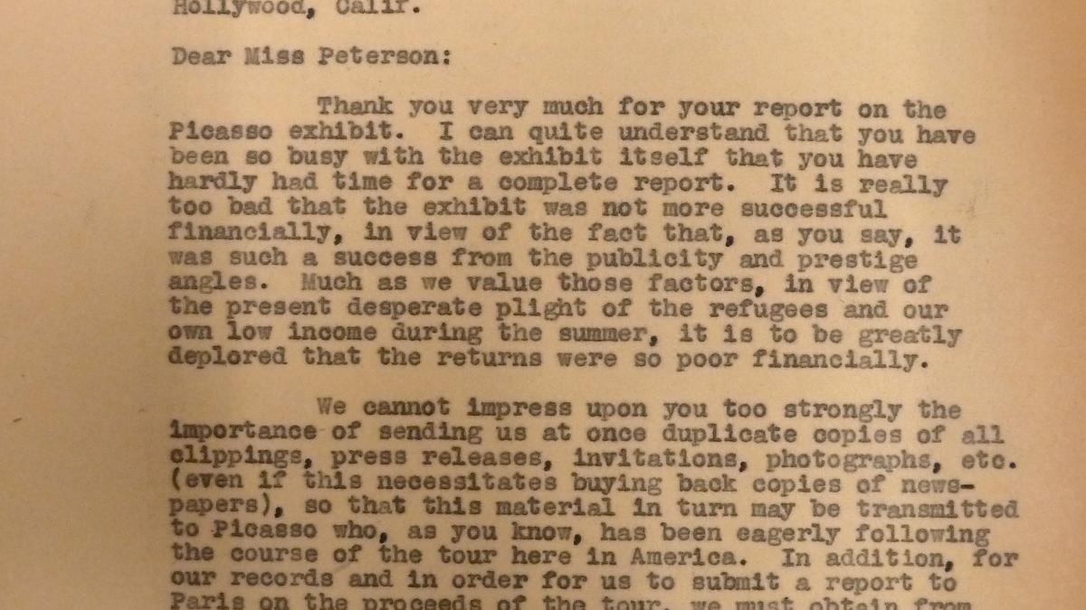 Carta de John Sherman a Marcelene Peterson