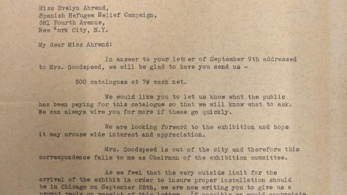 Carta de Alice Roullier a Evelyn Ahrend del 14 de septiembre de 1939