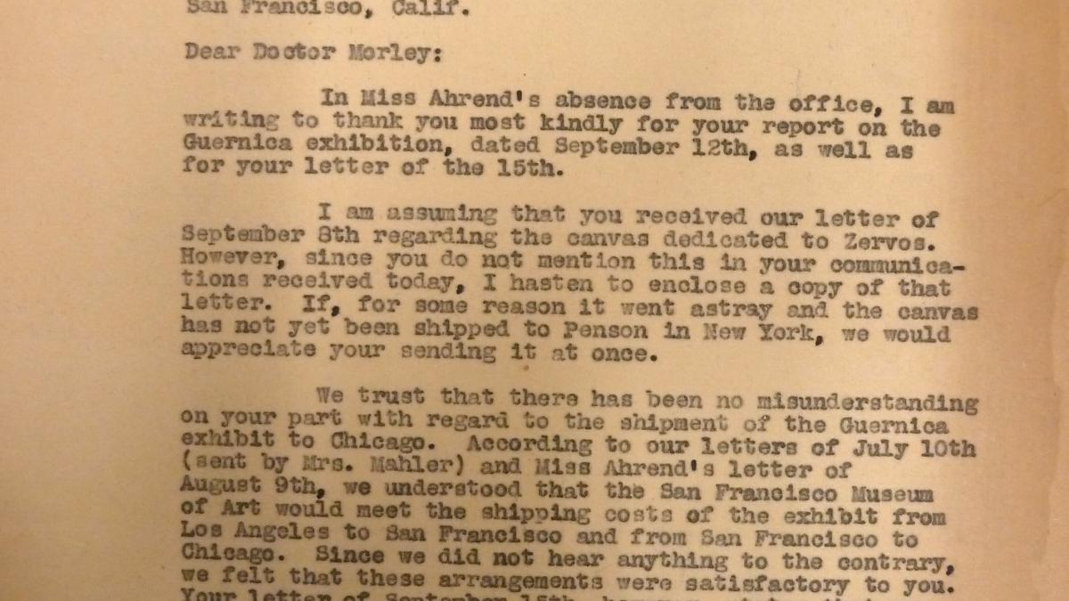 Evelyn Ahrend's letter to Grace L. McCann Morley, dated 18 September 1939