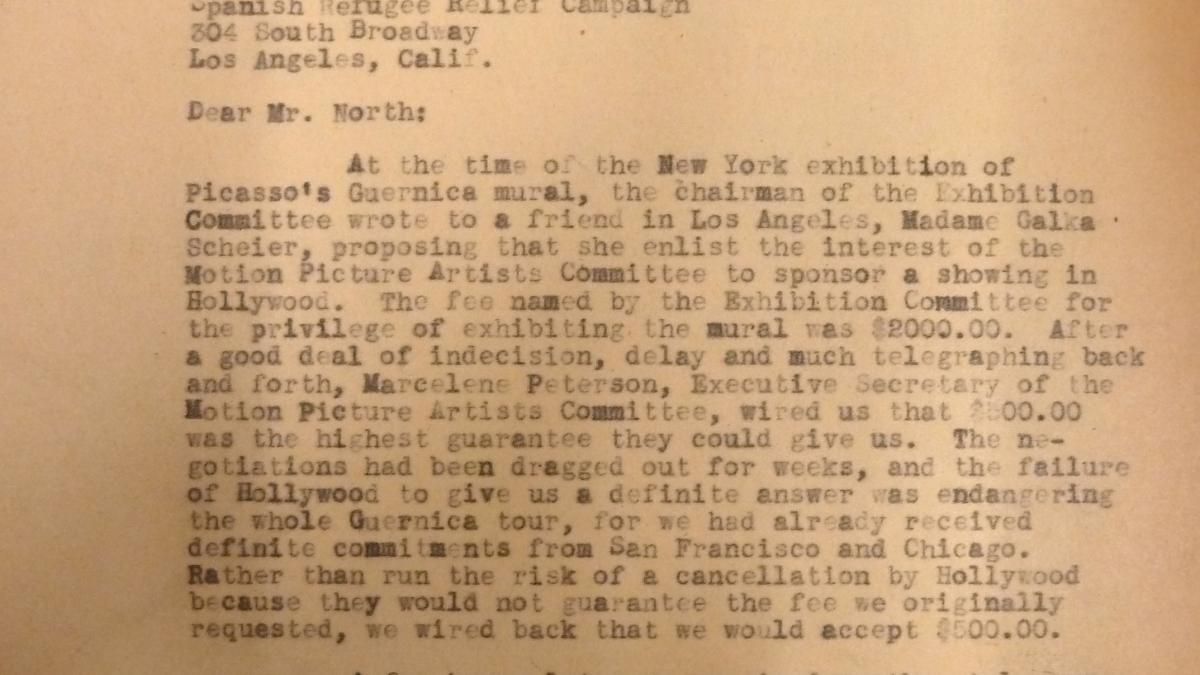 Carta de Evelyn Ahrend a Martin North