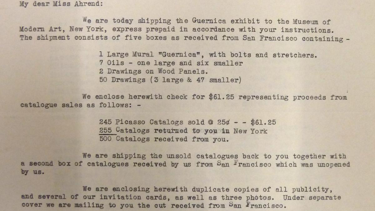 Carta de Alice Roullier a Evelyn Ahrend del 12 de octubre de 1939