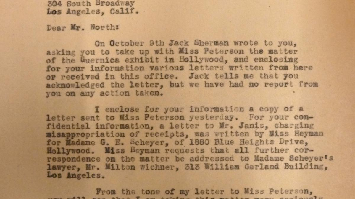 Herman F. Reissig's letter to Martin North