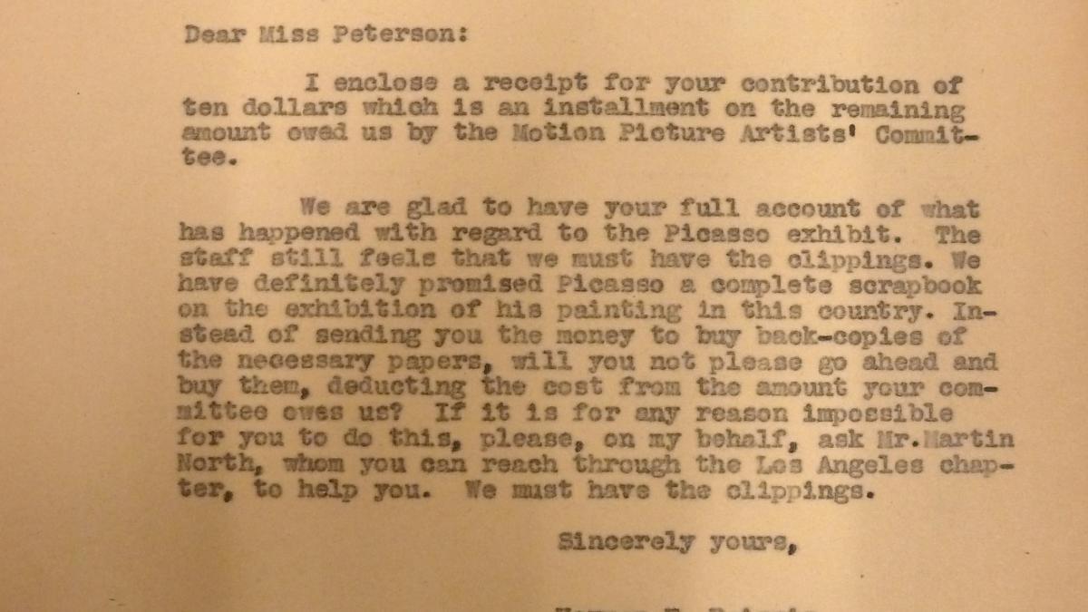 Carta de Herman F. Reissig a Marcelene Peterson del 17 de noviembre de 1939
