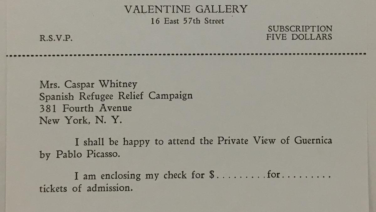 Invitation to a private visit at the  Valentine Gallery