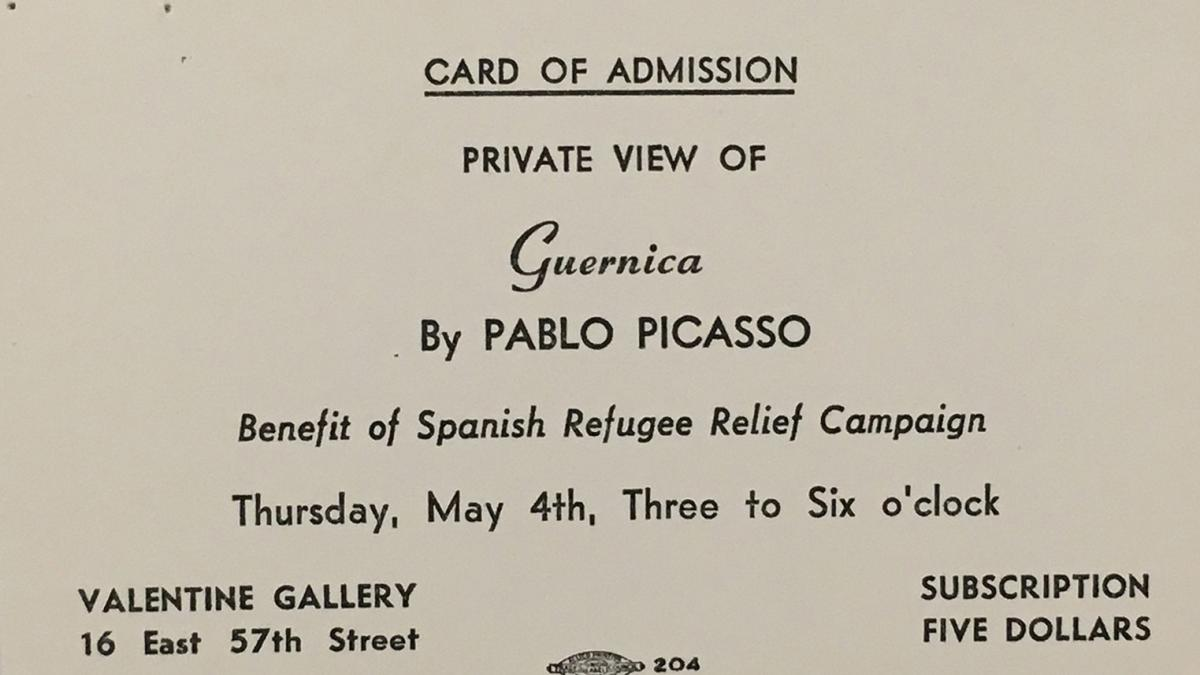 Invitation for a private visit to the Valentine Gallery