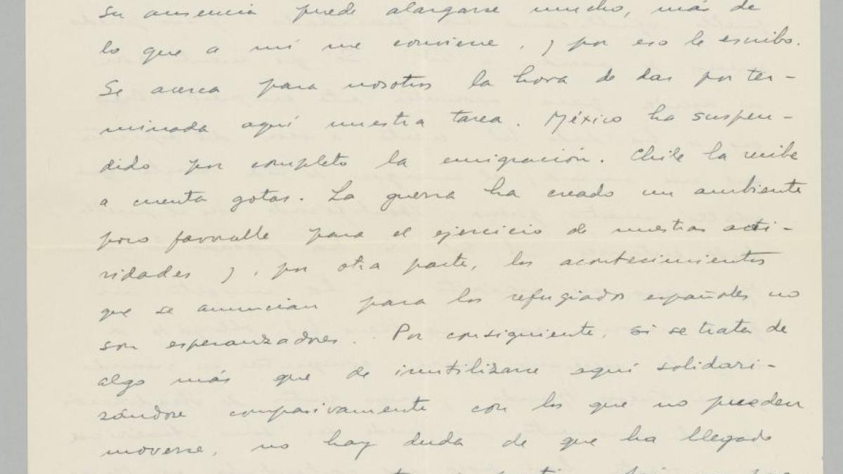 Carta de Juan Larrea a Pablo Picasso del 4 de octubre de 1939