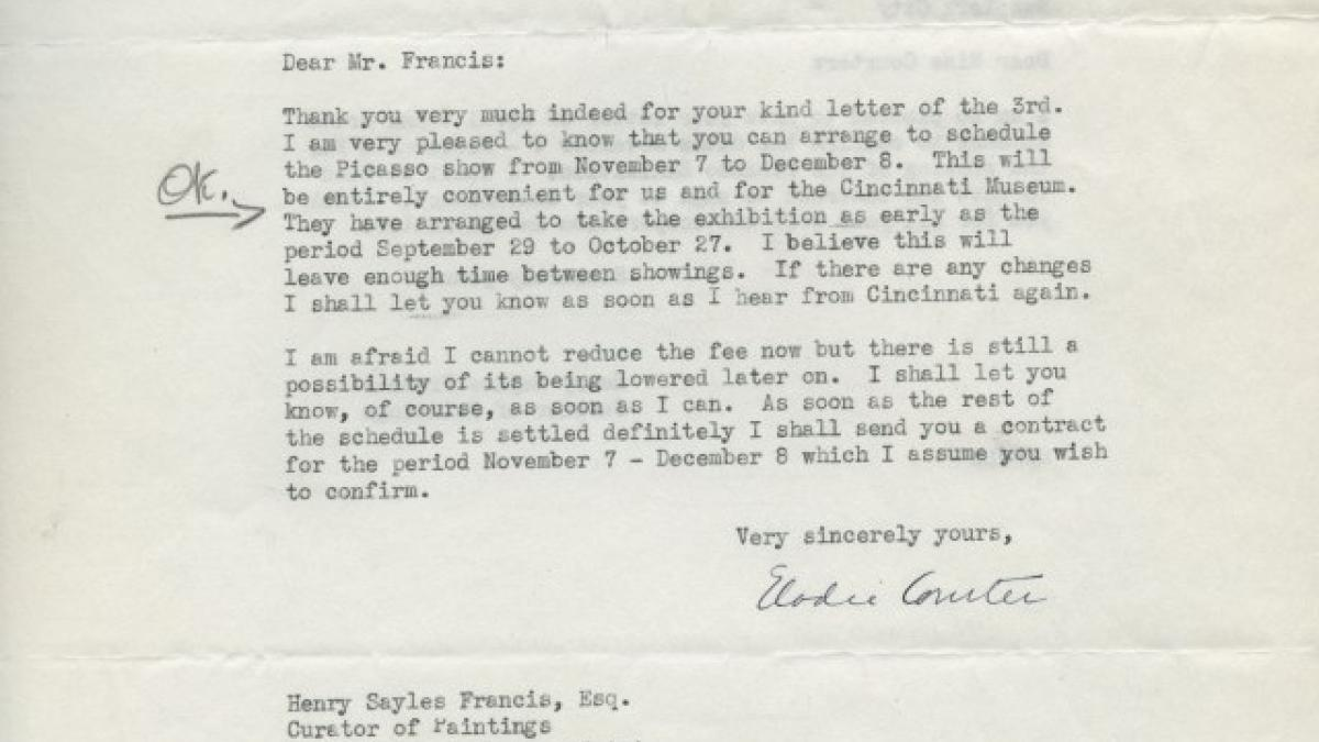 Elodie Courter Osborn's letter to Henry Sayles Francis, dated 8 April 1940