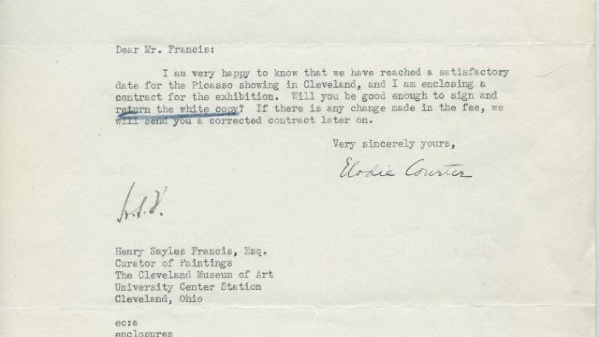 Elodie Courter Osborn's letter to Henry Sayles Francis, dated 15 April 1940