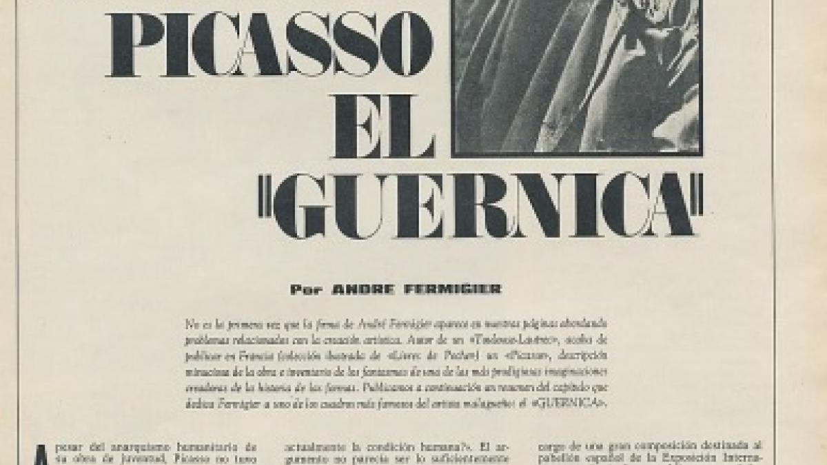Así pinto Picasso el Guernica
