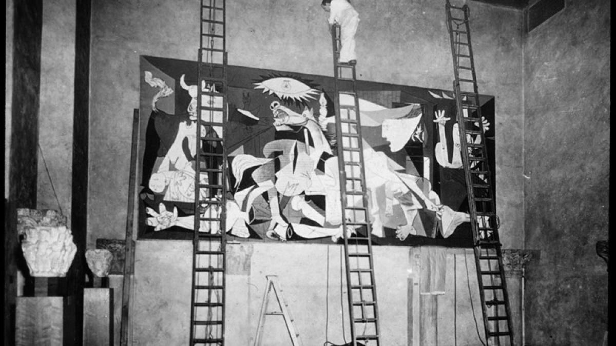 Views of Guernica exhibited at the Fogg Art Museum, Harvard University
