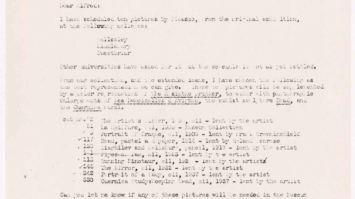 Carta de Elodie Courter Osborn a Alfred H. Barr Jr.