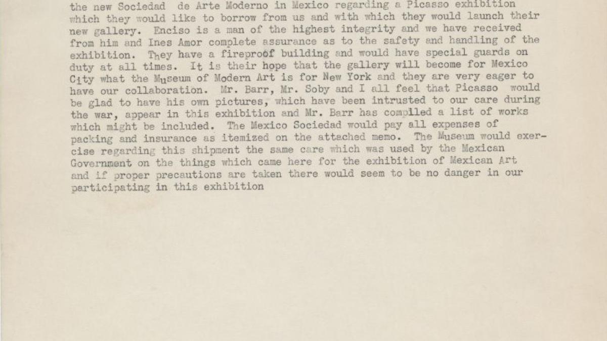 Monroe Wheeler's letter to Jere Abbott