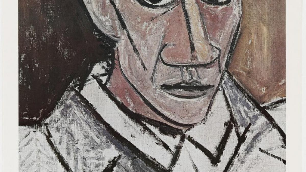 Poster of the exhibition Pablo Picasso: a Retrospective