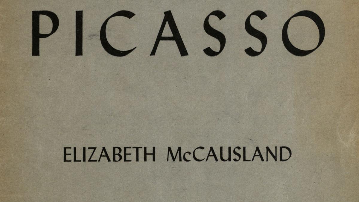 Picasso, by Elizabeth McCausland