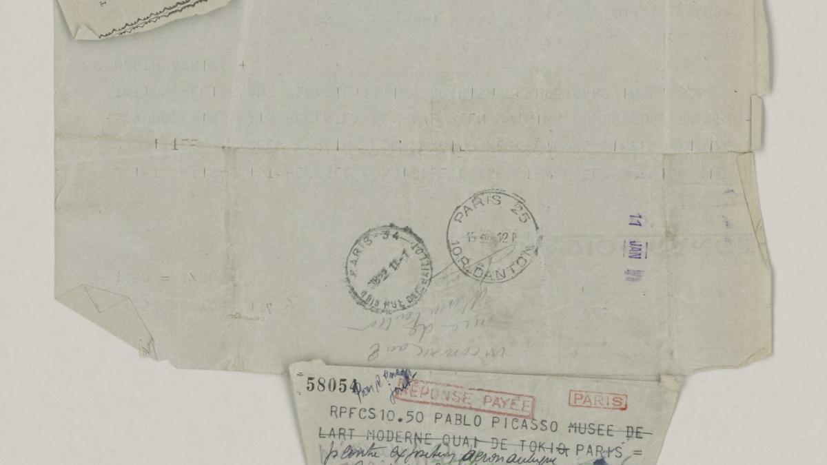 Radiograma de Edward K. Barsky a Pablo Picasso