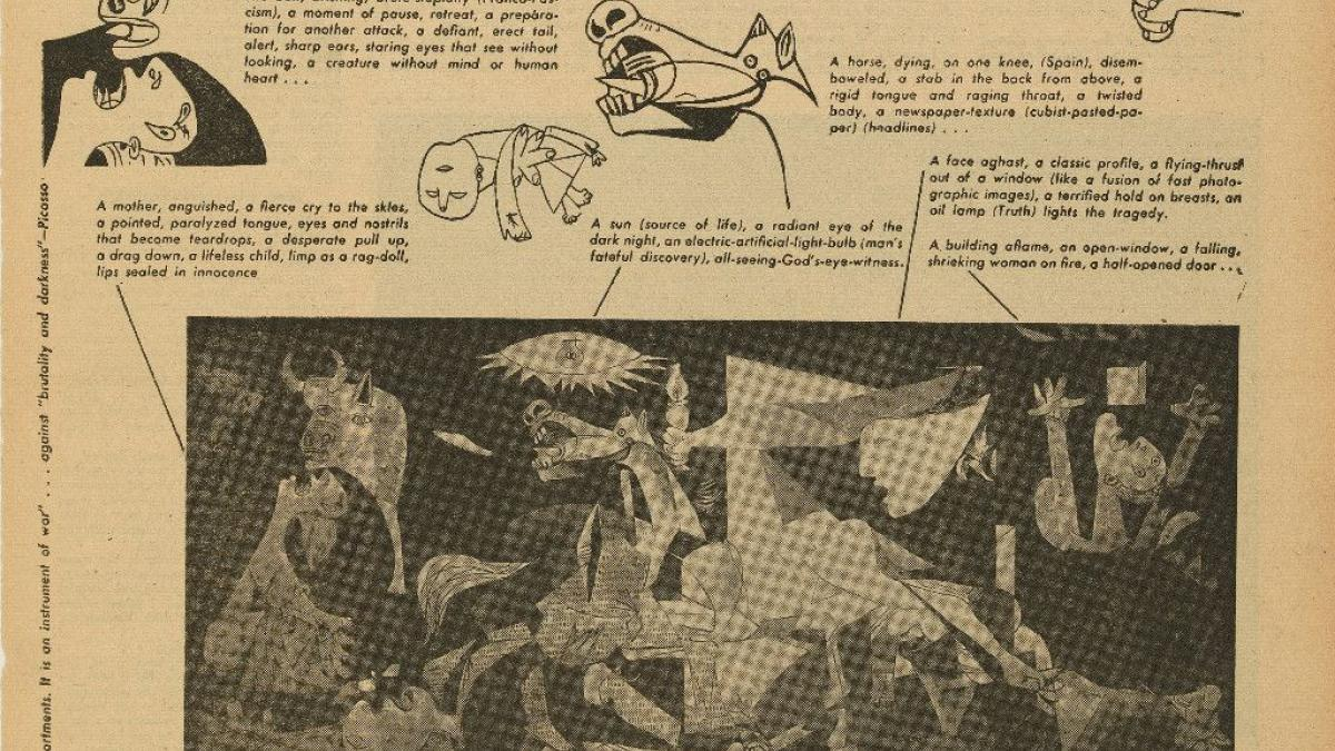 How to look at a mural: Guernica