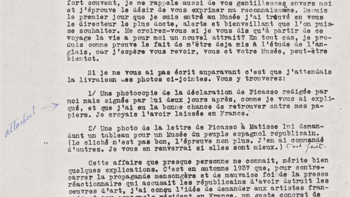 Carta de Juan Larrea a Alfred H. Barr Jr. del 21 de diciembre de 1947