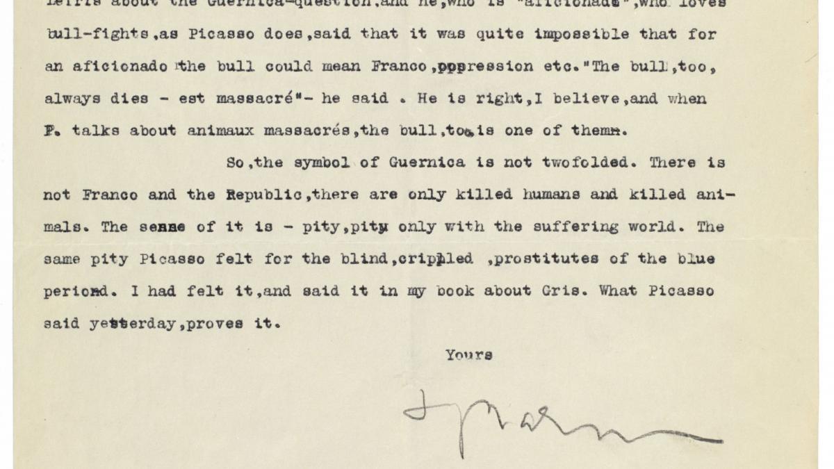 Juan Larrea's letter to Alfred H. Barr Jr., dated 10 July 1947
