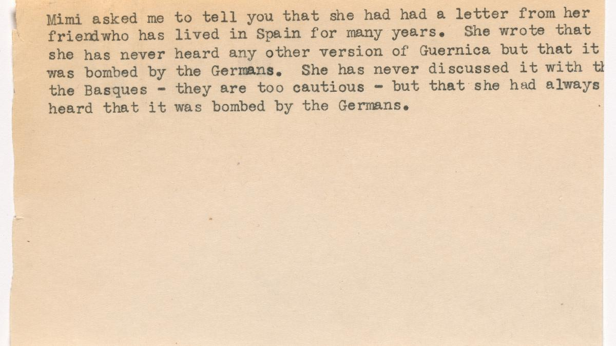 Carta de Mimi Levitt a Alfred H. Barr Jr.