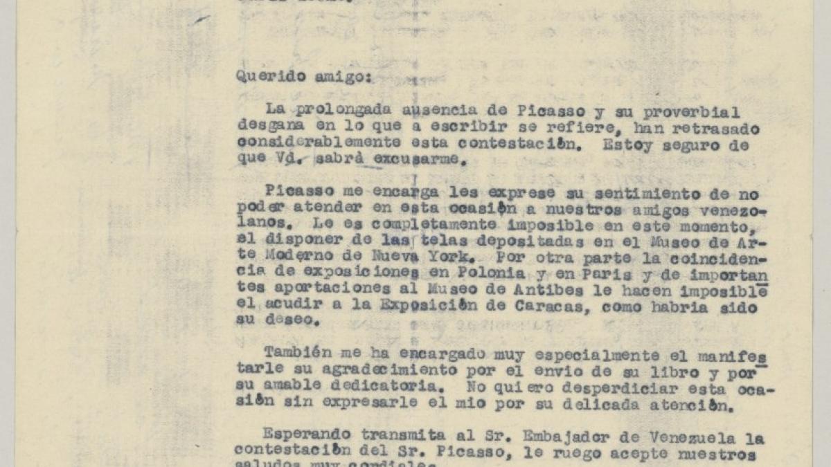 Carta de Mariano Miguel a José Ballester-Gozalvo