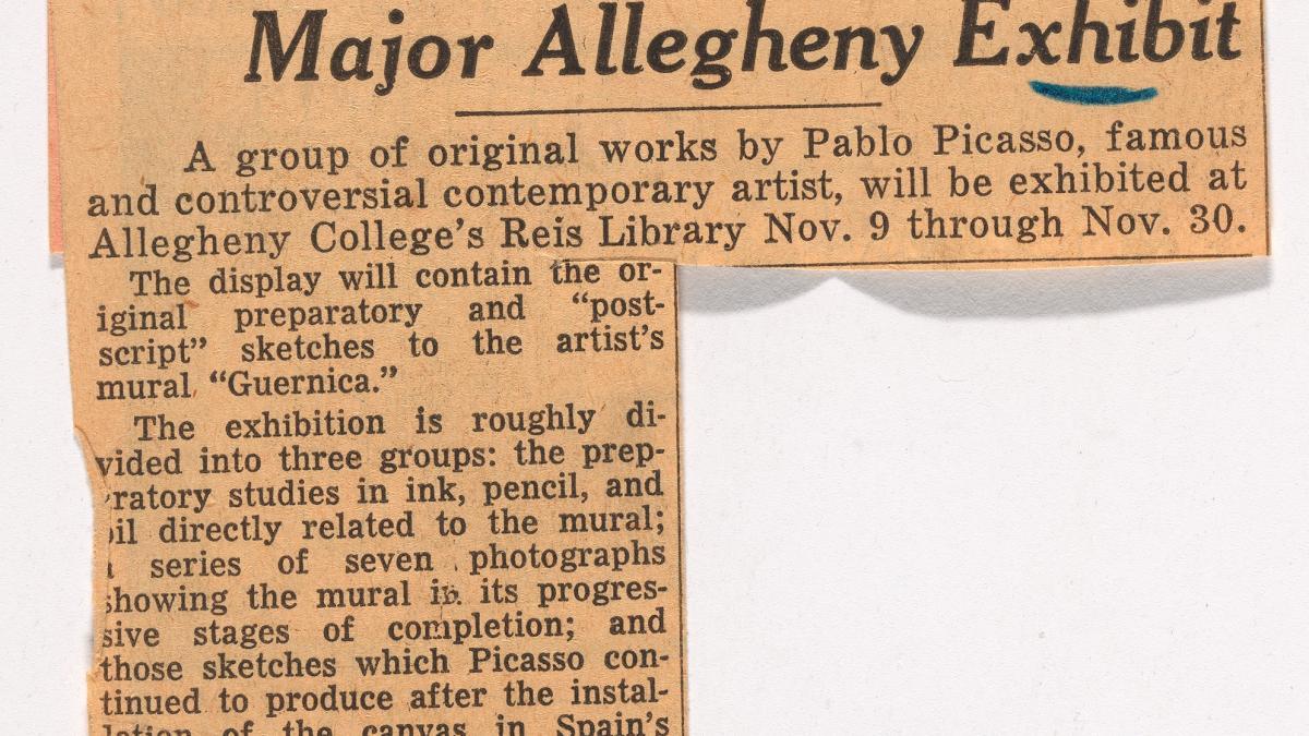 Gran exposición de obras de Picasso en Allegheny