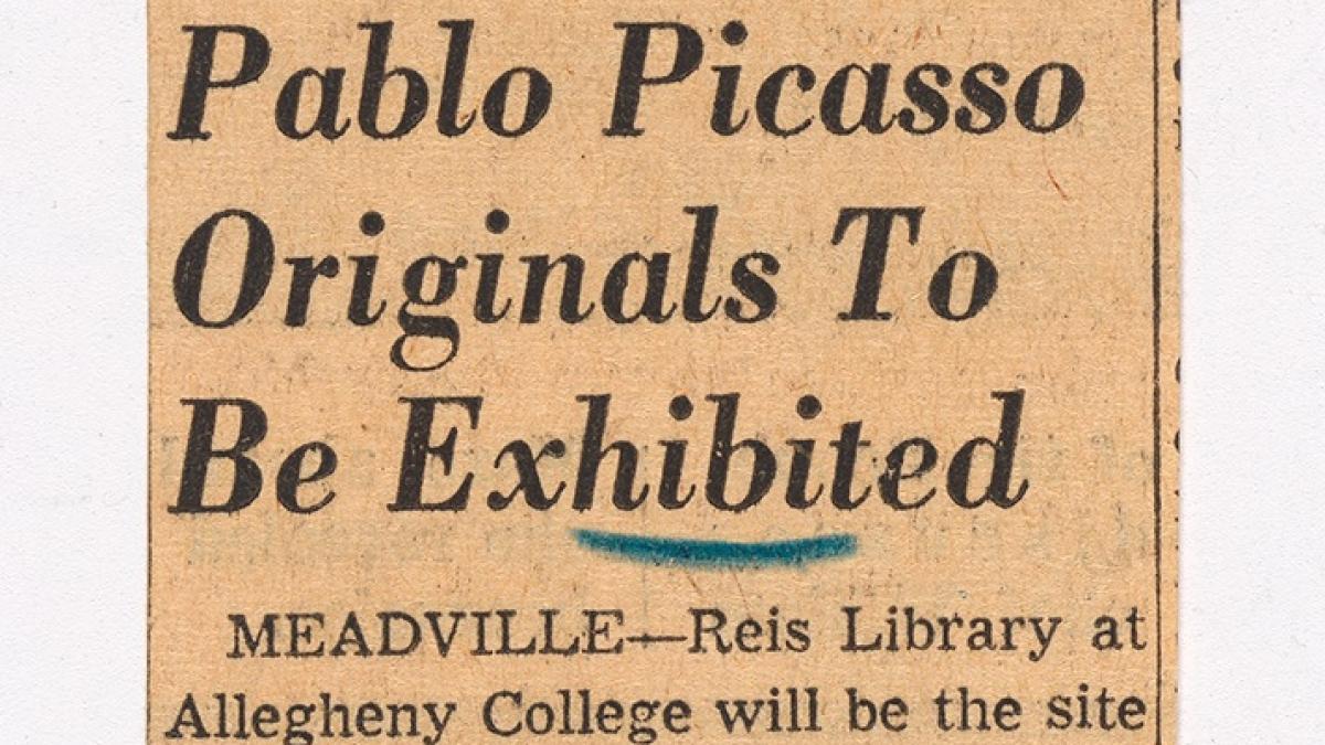 Se expondrán originales de Pablo Picasso