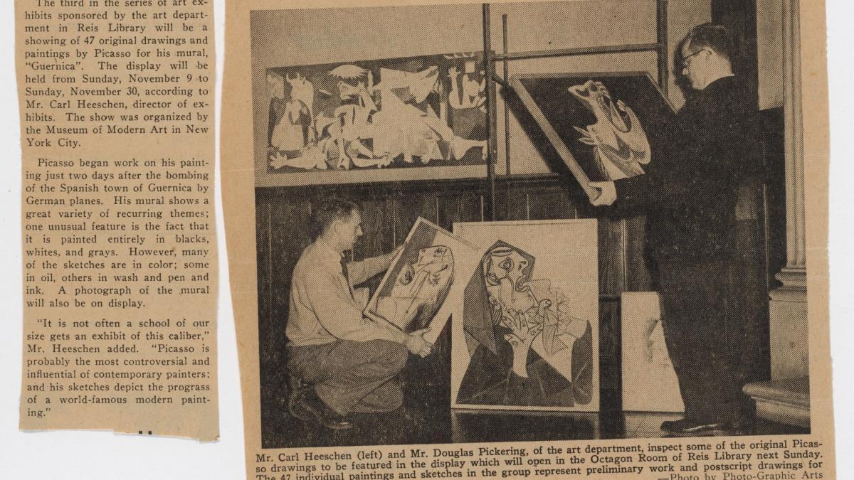 Portada con fotografía de la instalación de Studies for Guernica