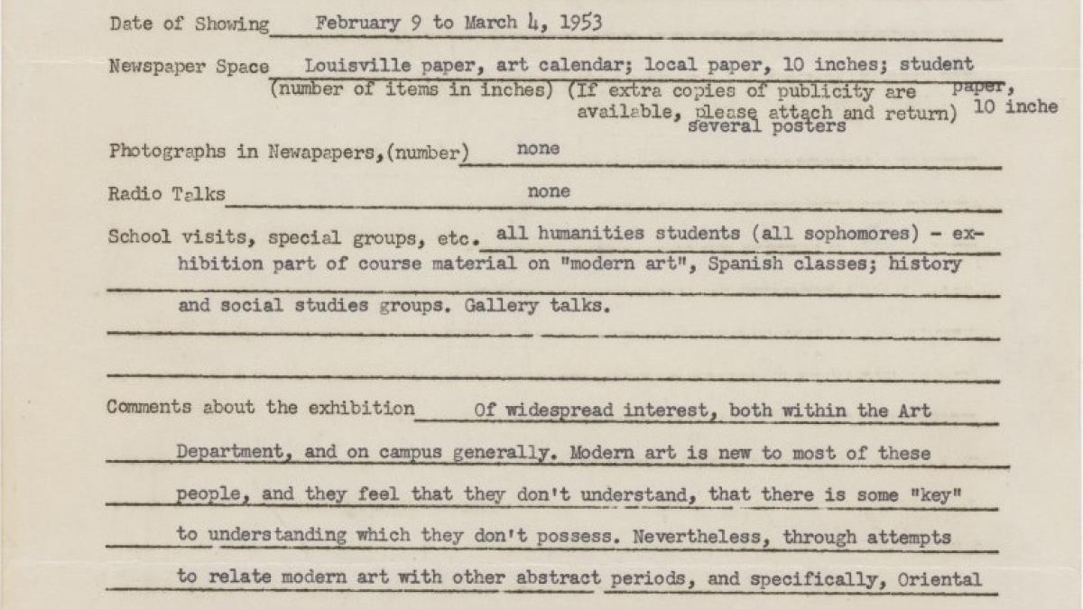 Informe de impacto de público de la exposición Studies for Guernica en el Berea College Art Department de Kentucky