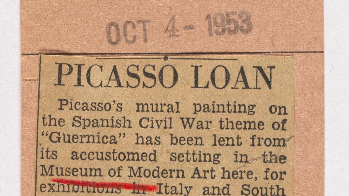 El préstamo de Picasso