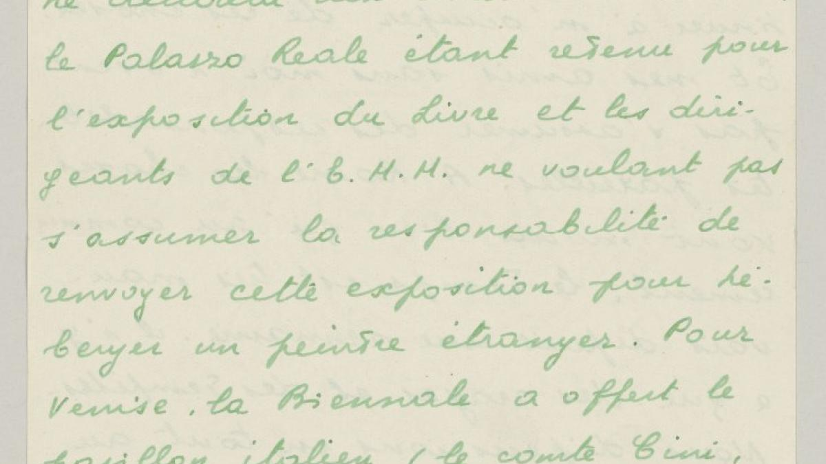 Carta de Eugenio Reale a Daniel-Henry Kahnweiler