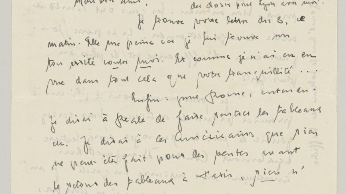 Carta de Daniel-Henry Kahnweiler a Pablo Picasso del 9 de junio de 1953