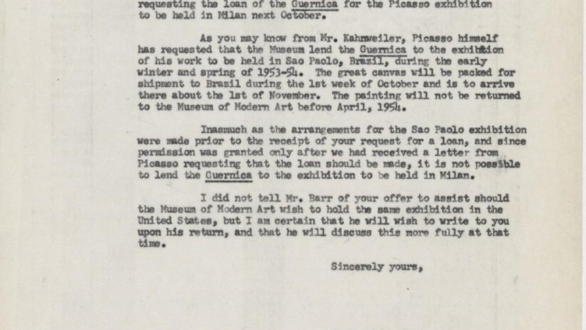 Carta de Marie Alexander a Romeo Toninelli