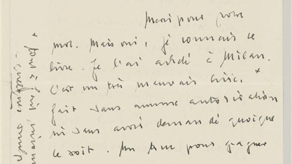 Carta de Daniel-Henry Kahnweiler a Pablo Picasso del 5 de diciembre de 1953