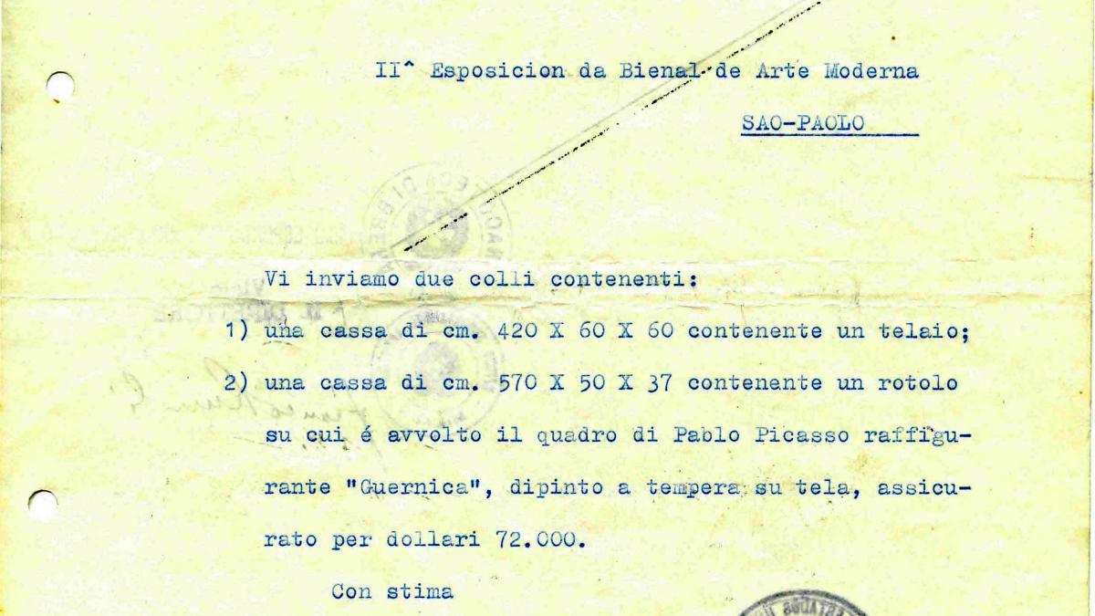 Certificado de exportación de Guernica