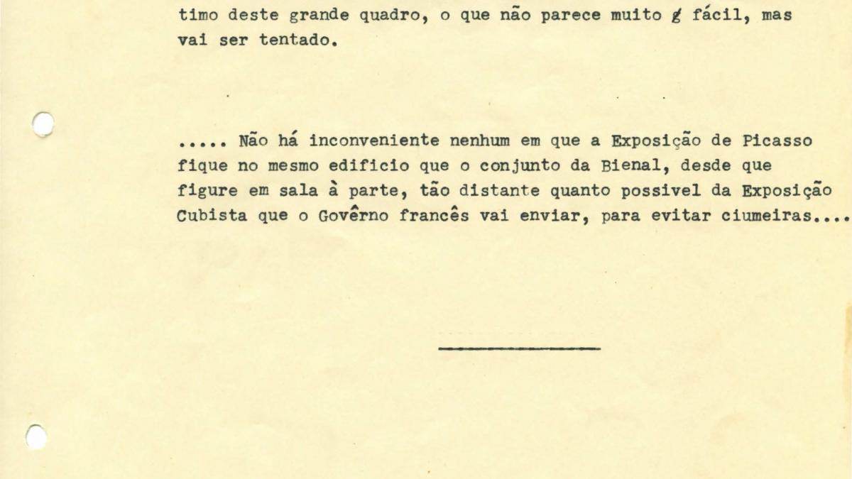 A letter from Paulo E. de Berrêdo Carneiro, dated 11 March 1953