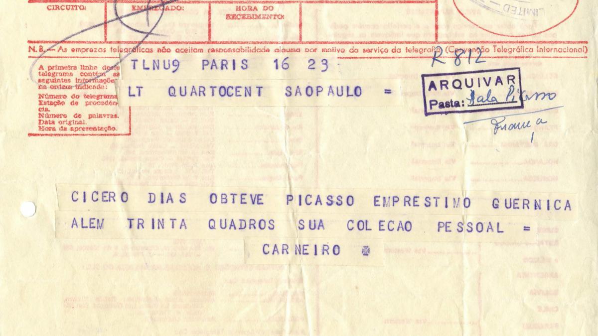 Telegrama de Paulo E. de Berrêdo Carneiro