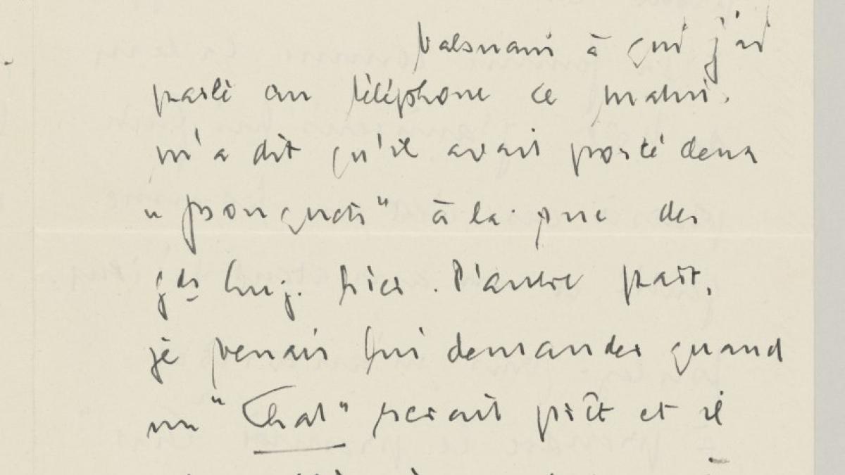 Carta de Daniel-Henry Kahnweiler a Pablo Picasso del 4 de diciembre de 1953