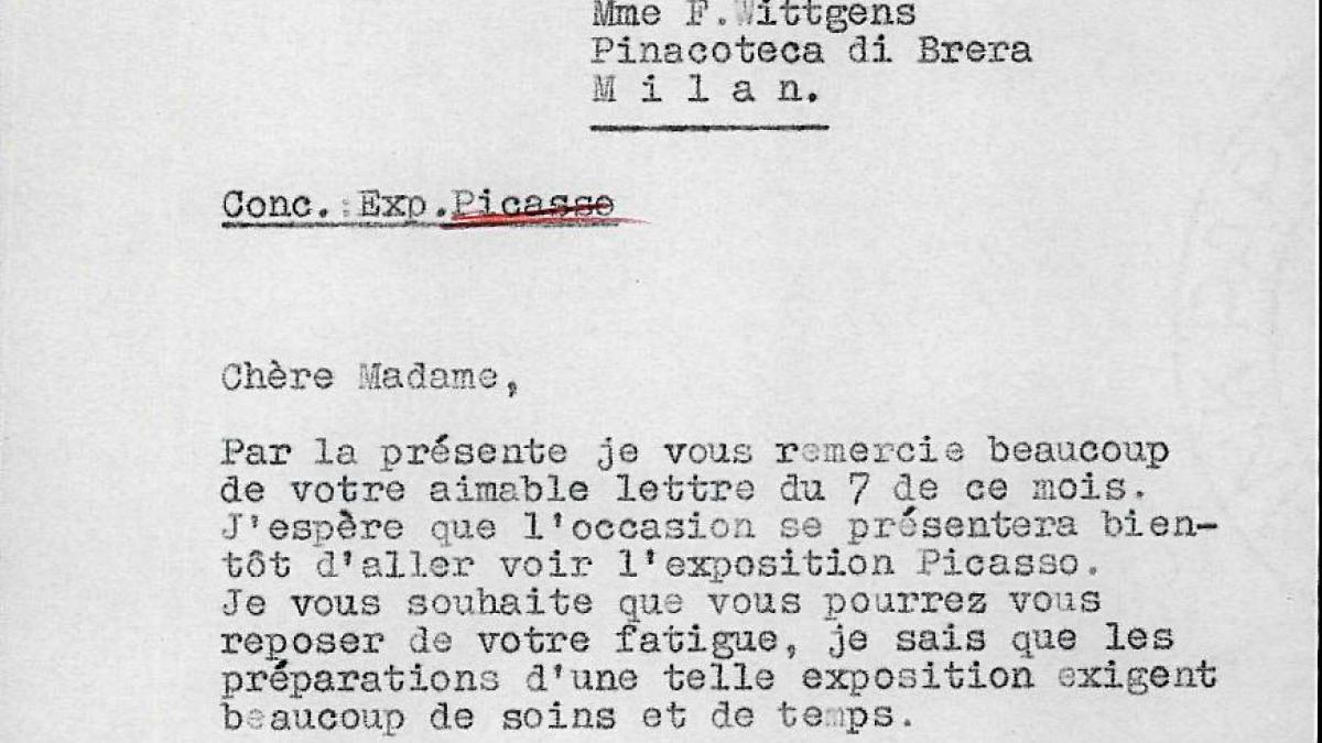 Carta de Willem Sandberg a Fernanda Wittgens