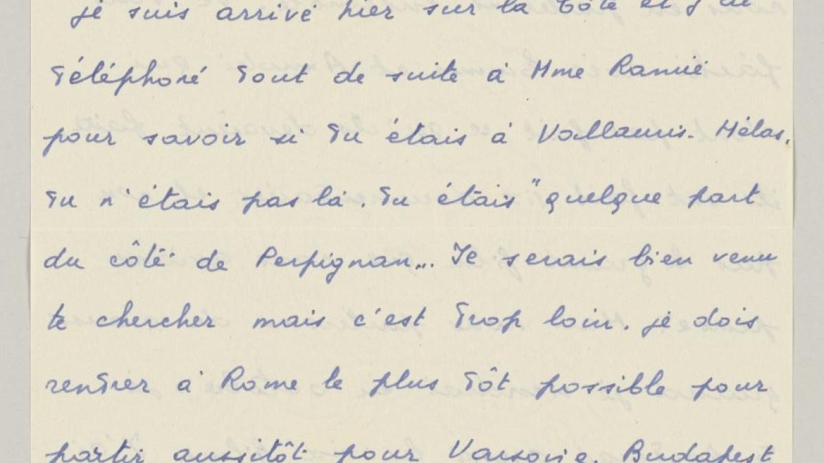 Carta de Eugenio Reale a Pablo Picasso del 24 de agosto de 1954