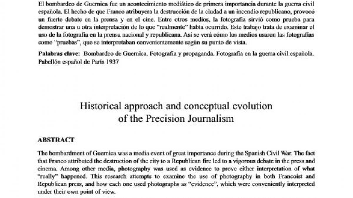 """""""«Esto no es Guernica…» Fotografías en prensa de la destrucción de Guernica durante la guerra civil española"""""""