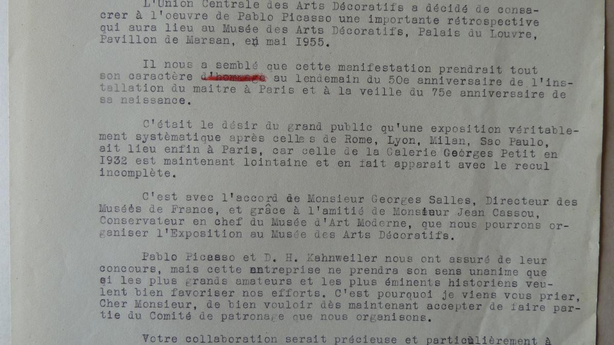Carta de François Carnot a Alfred H. Barr Jr.