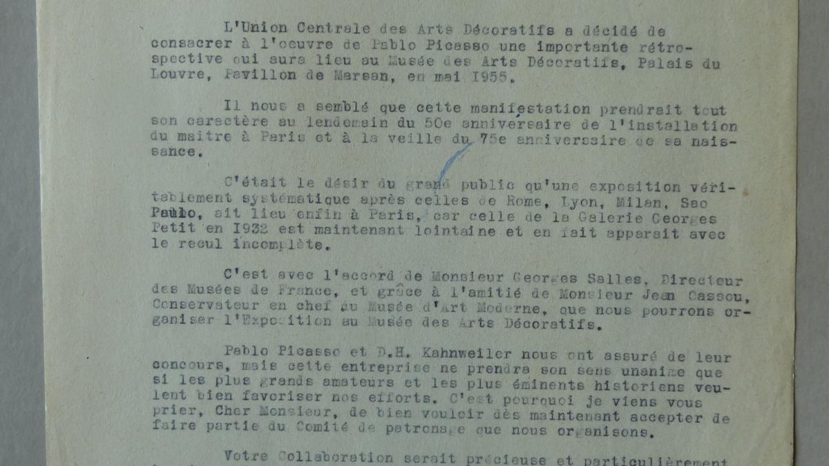 Carta de Jacques Guerin a Jaime Sabartés