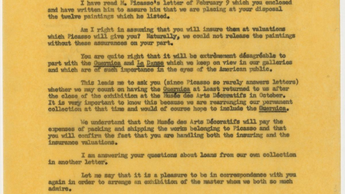 Alfred H. Barr Jr.'s letter to Maurice Jardot, dated 4 March 1955