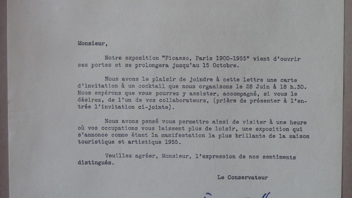 François Mathey's letter to an unknown recipient