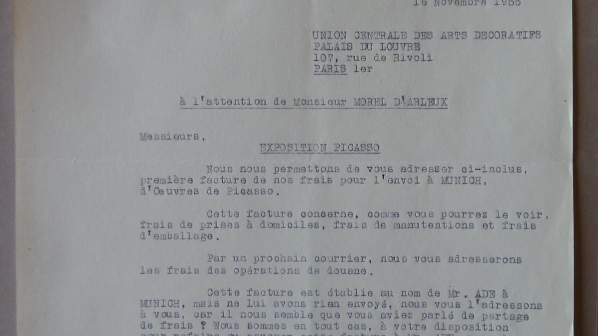 Carta de R. Lerondelle a Morel d'Arleux