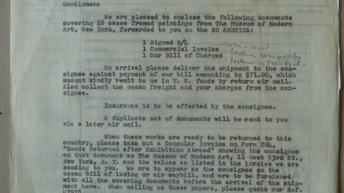 Carta de W.R.Keating & Company International a R. Lerondelle