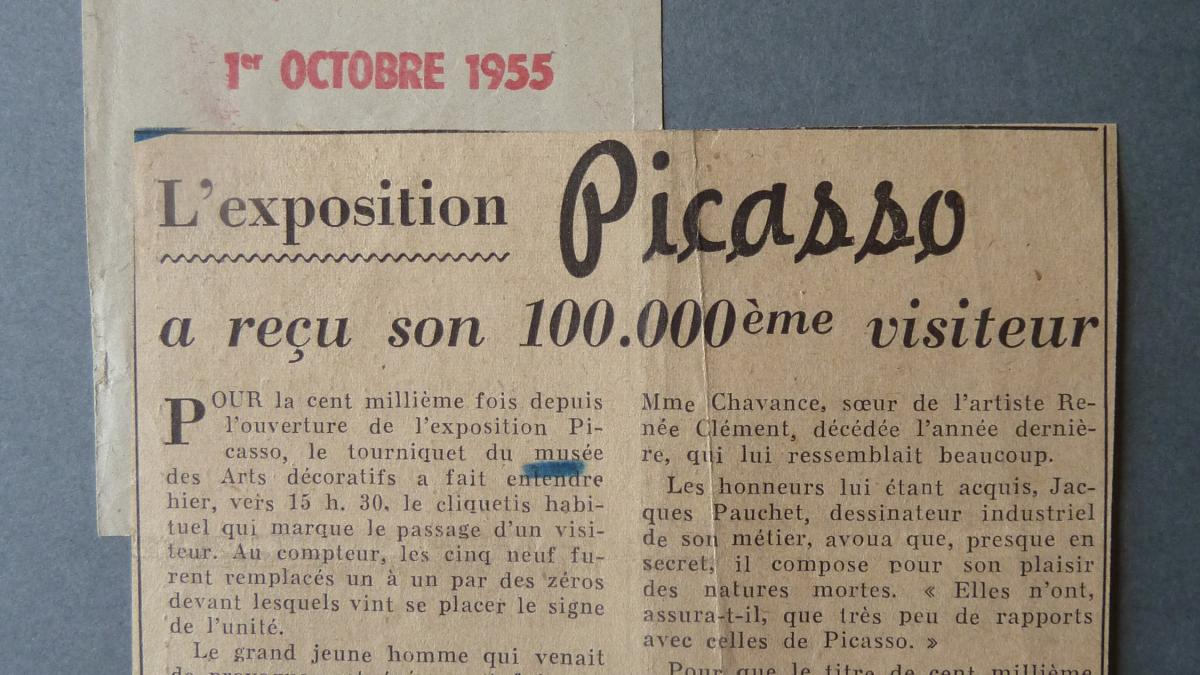 The Picasso exhibition welcomed its 100,000th visitor