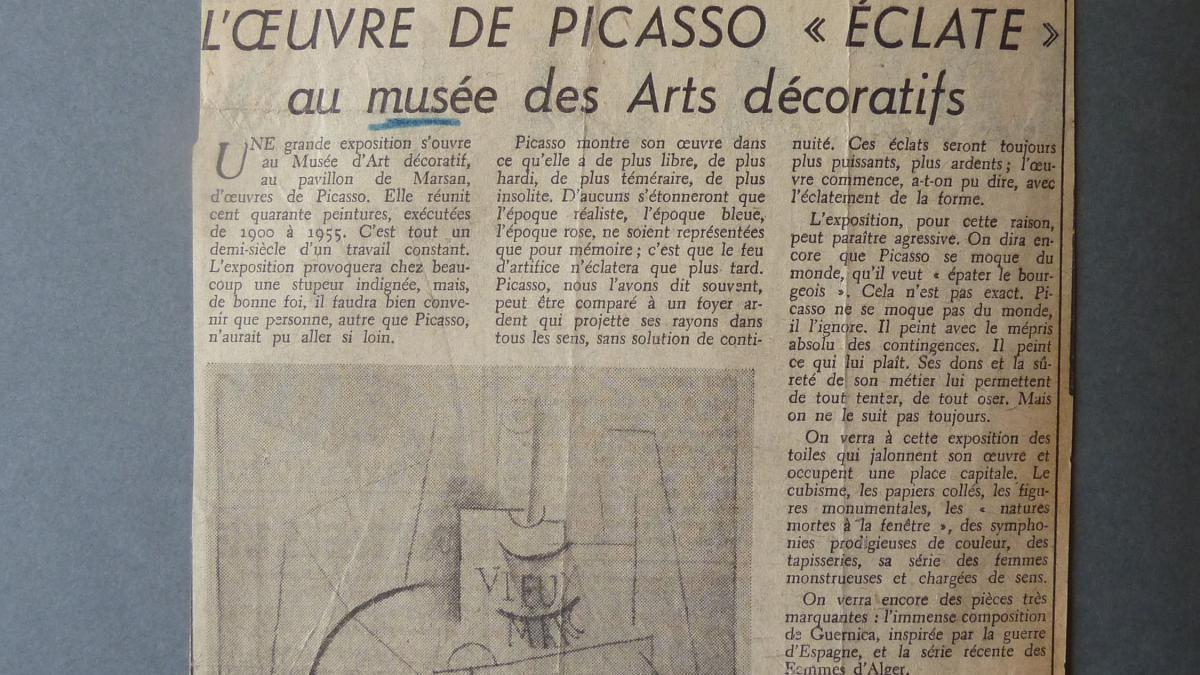 La obra de Picasso explota en el Musée des Arts Décoratifs