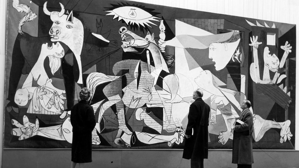 Instalación de Guernica en el Haus der Kunst